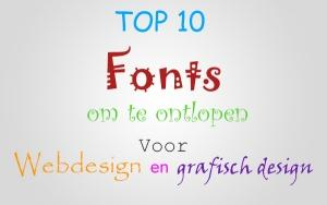 Top 10 fonts om te ontlopen